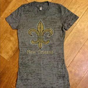 Tops - New Orleans fleur de lis tee shirt